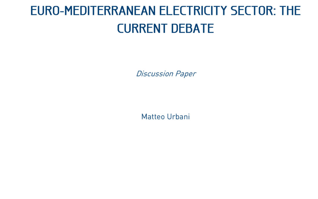 Cross-Border Transmission Investments in the Euro-Mediterranean Electricity Sector, 2013