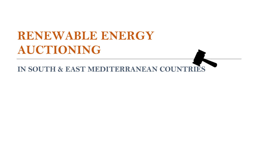 Renewable Energy Auctioning in South / East Mediterranean Countries, March 2020